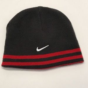 Nike Red/Black Reversible Beanie Hat Boys Youth